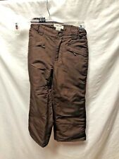 Cherokee Girls Sz 4 5 Brown Snow Pants 100% Polyester