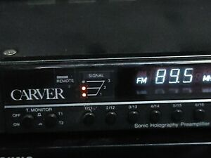 Carver Sonic Holography Preamplifier Tuner Model C-6 with remote