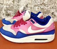Nike Air Max 1 Premium Hyperfuse Sail-Pink Blue Trainers 2013 579758-100 5 38.5