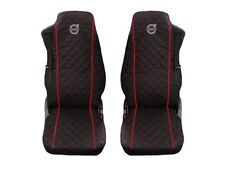 Volvo FH12 , FH16 , FH3 Truck Seat Covers 2 piece (1+1) RED PIPING