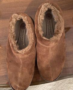 NEW Rockport Premium Suede Slipper/Loafer Light Brown Mens Size 10-10.5