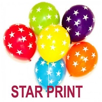 Star Printed  BALLOONS Assorted Colours Children Birthday Baloon helium/air