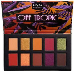 NYX Off Tropic Eye Shadow Matte Metallic Palette OTSP02 Shifting Sand