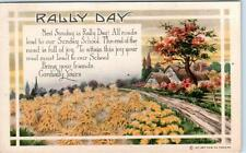 RALLY DAY Arts & Crafts  Harvest Scene   c1916   I.A.P.C.  Postcard