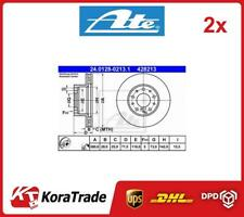 2x 24-0128-0213-1 ATE OE QUALITY BRAKE DISC SET