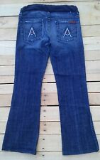 "7 For All Mankind Maternity Jeans  ""A"" Pocket Flare Size 28 X 29"