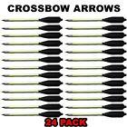 24 ALUMINUM METAL BOLTS ARROWS FOR 50 & 80 LB CROSSBOW ARCHERY - GREEN