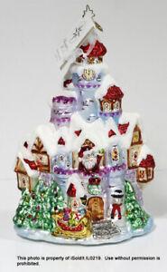 NEW NWT CHRISTOPHER RADKO North Pole Palace Large Glass Ornament LTD ED!