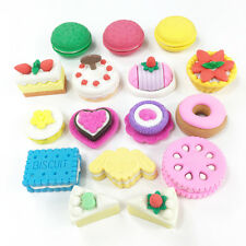 4 x Novelty Cute 3D Dessert Food Japanese Style Erasers Rubbers Party Bag Gift