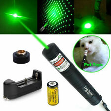 Tactical Green 532nm Laser Pointer Pen Zoomable Visible Beam Light+16340 Battery