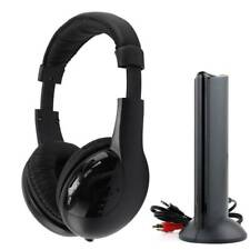Cordless Wireless Headphones Wired Headset 5-in-1 FM Monitor Audio CD TV MP3 PC