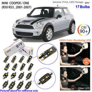 Deluxe LED Interior Light Kit White Bulbs For R50 R53 2001-2007 MINI COOPER ONE