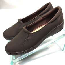Grasshoppers Women Brown Slip On Low Wedge Loafer Flats Shoe 7.5 M Pre Owned Sh4