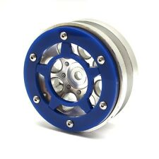 Gear Head RC Axial 1.9 Wheel Beadlock Ring, Style No. 8, Blue Acrylic  GEA1261