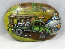 """Painted Rock, """"Vintage Miners""""  Vintage Mining Scene, #kcpr9"""