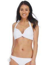 Reger por Janet Reger-Blanco Nudo Delantero Cuello Halter Bikini-Talla 8-Bnwt