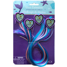 MERMAID WISHES HAIR EXTENSION CLIPS (4) ~ Birthday Party Supplies Accessories
