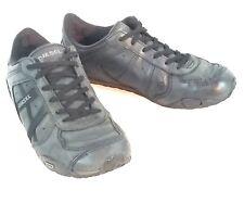 Diesel Remy Black Leather Lace Up Sneaker Fashion Footwear Shoes Sz 5 / 37 EU