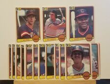 Pre-owned ~ 1983 Donruss Cleveland Indians Baseball Cards (Barker, Sutcliffe