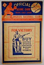 1942 PCL Baseball Program Signed by 23 Seattle Rainers vs LA Angels JSA/PSA Guar