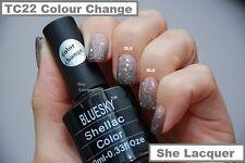 Bluesky TC22 BROWN CREAM COLOUR CHANGE CHAMELEON TEMPERATURE CHANGE GEL POLISH