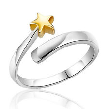Vogue Shining Star White Gold Plated Promise Ring Love Gift Sizable R0229J