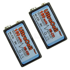 2 x 9V Volt 160mAh Ni-Cd Rechargeable Battery Ultracell PP3 6F22 17R8H