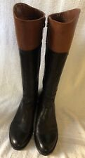 Franco Sarto Black and Brown Classic Riding Boot US 9
