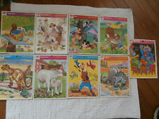 Lot of 9 1970's Vintage Whitman Frame Tray Puzzles Complete  b3