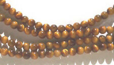 20 x 4mm tiger's eye quartz round beads - beads for jewellery and crafts