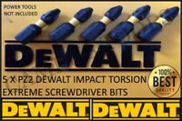 5pc DeWALT PZ2 25mm Extreme Impact Pozi Screwdriver Bits FITS makita bosch aeg