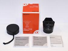 Sony Alpha 16mm f/2.8 Fisheye Wide Angle Lens A Mount DSLR Digital Camera