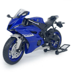 1:12 Yamaha YZF-R6 Motorcycle Model Diecast Toy Motorbike Model Boys Gift Blue