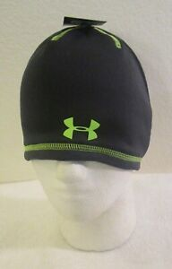 NWT Under Armour Boys UA ColdGear Reactor Beanie One Size Anthracite MSRP$25
