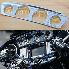 Chrome Tri-Line Gauge Trim For Harley Touring Electra Street Glide & Trike 14-17