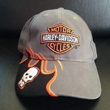 Harley Davidson Motor cycles Hat size adjustable HD skull