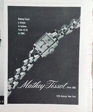 1943 Mathey-Tissot women's vintage wrist watch watch tribute to fashion ad