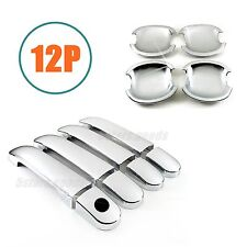 Accessories Chrome Door Handle + Bowl Covers For Nissan Versa Sedan / Hatchback