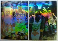 Rare Lot of 2 European Blank Back: 1991 91-92 Upper Deck Michael Jordan Hologram