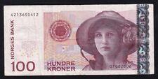 NORWAY ----- 100  KRONER  2006 ----- F/VF ----
