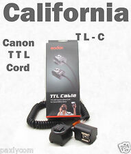 TTL Off Camera Hot Shoe Flash Sync Cable Cord Speedlight Canon EOS Digital Rebel