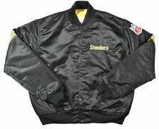 Vintage 80s Pittsburgh Steelers Starter Satin Jacket Size Large
