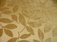 Italian Designer Velvet Naples Leaf Beige Curtain / Upholstery (Fashion?) Fabric