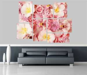 Pink Orchids Flowers Removable Self Adhesive Wall Picture Poster 1228