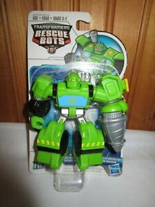 NEW Playskool Transformers Rescue Bots Boulder the Construction Bot Drill Spins