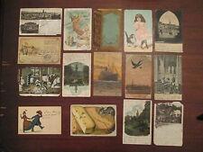 Lot of 15! Vintage European postcards: circa 1902-07!