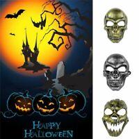 Full Face Skull Skeleton Mask Hunting Party Scary Halloween Costume Mask