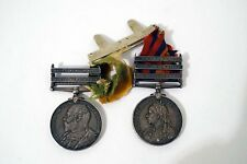 RARE PAIR OF BOER WAR SOUTH AFRICAN MEDALS KING'S OWN SCOTTISH BORDERERS  B200