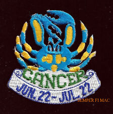 Cancer-June-22-July-22 Hat Vest Patch Pin Up Gift Quilt Birthday Greek Myth