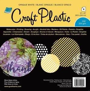 Grafix Craft Plastic Sheets 12X12 4/Pkg Opaque White .010